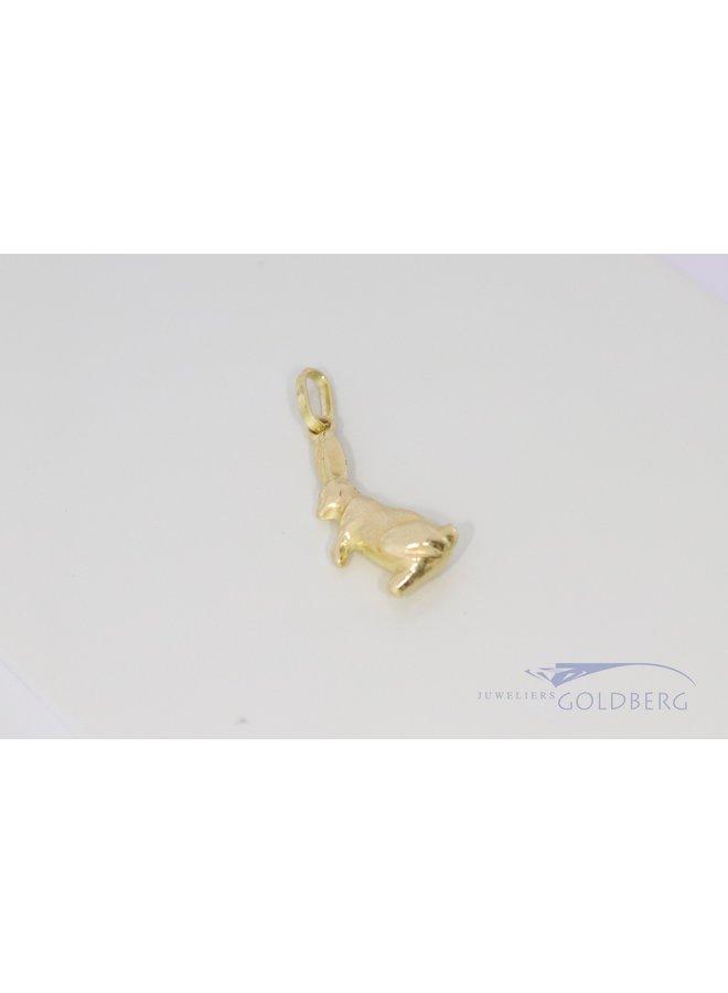 lief kinderhangertje van een konijn 184k goud