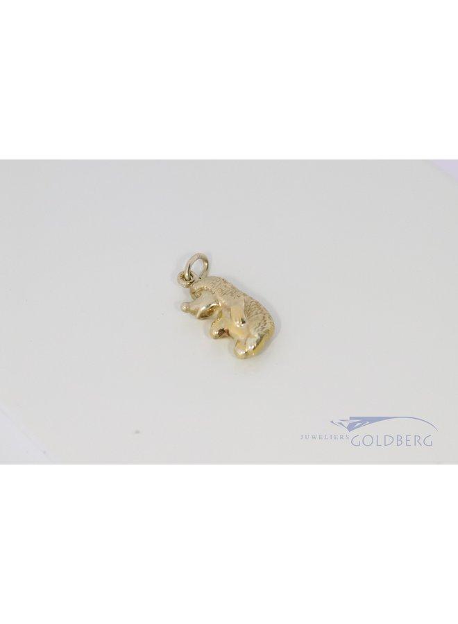 Sweet pendant of a hedgehog 14k