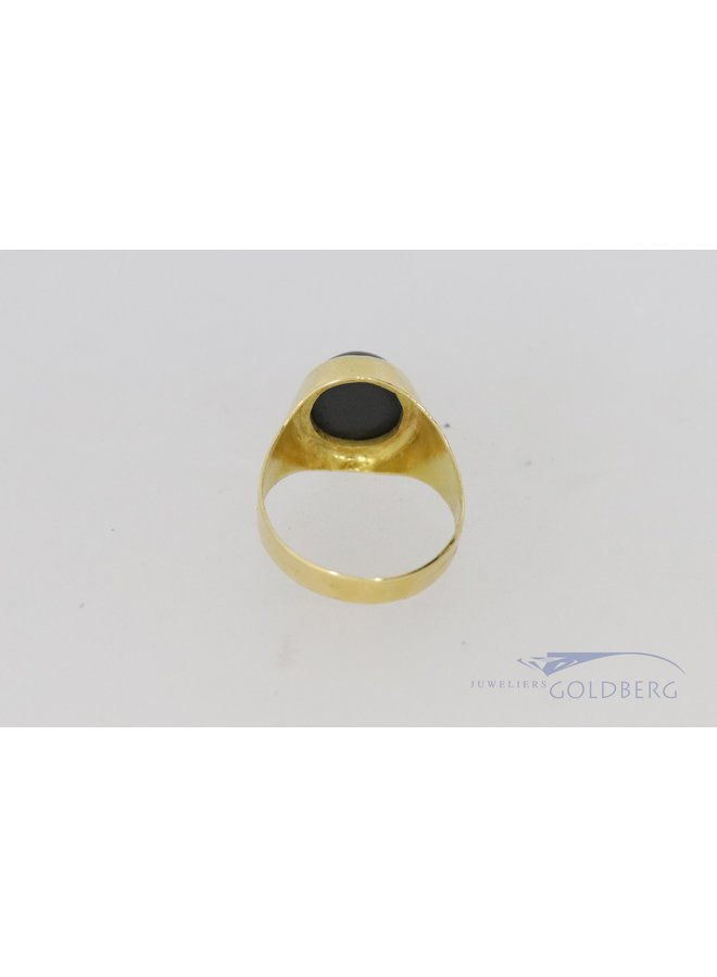 18k vintage signet ring with onyx