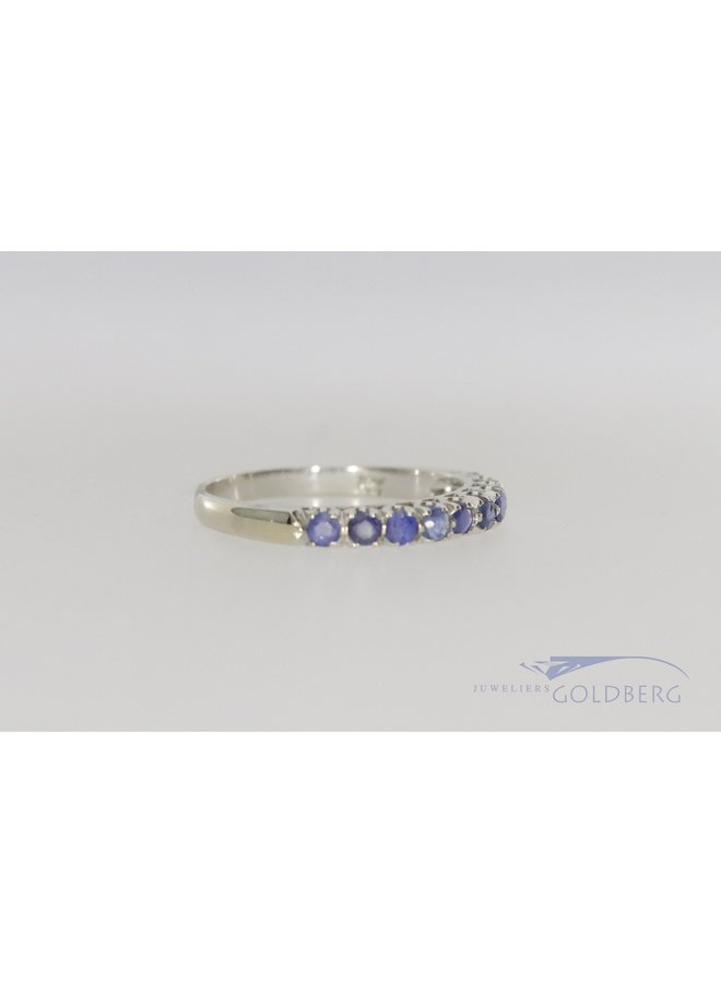 18kwhite gold alliance with sapphire