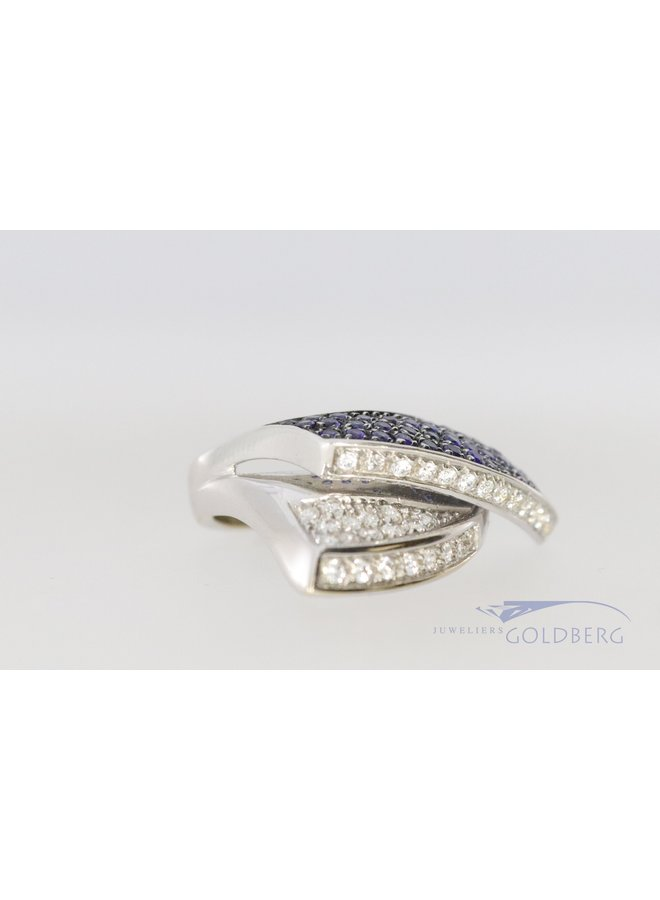 18 kt white gold robust design ring