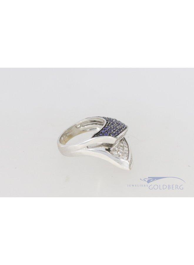 18k witgouden rubuste design ring