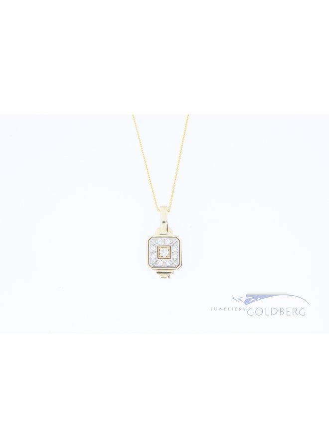 14k gold pendant custom design and finish