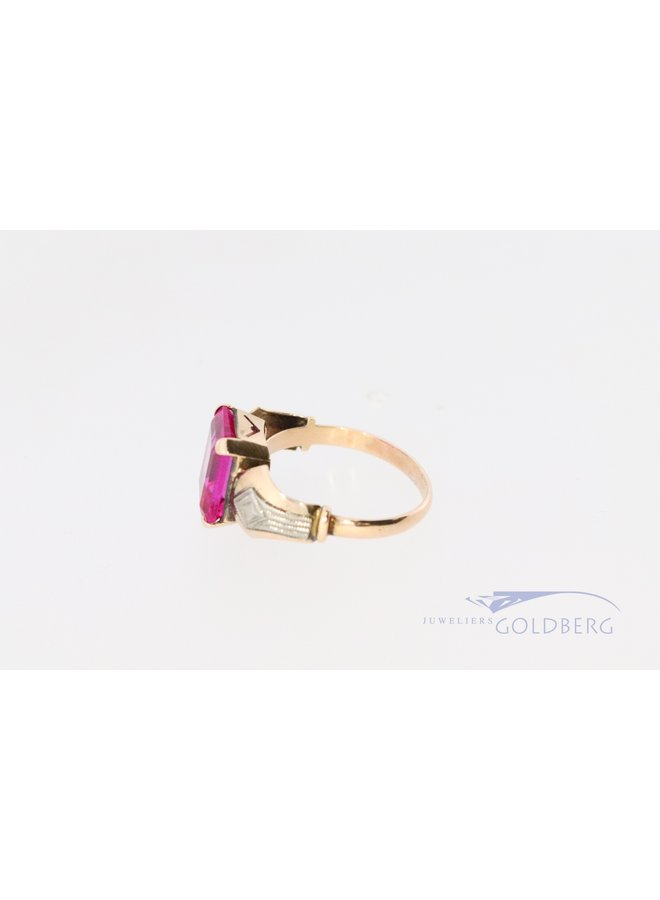 vintage 14k ring with pink spinel