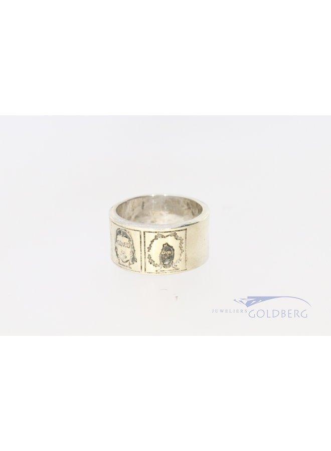 Vintage United Colors of Benetton zilveren ring