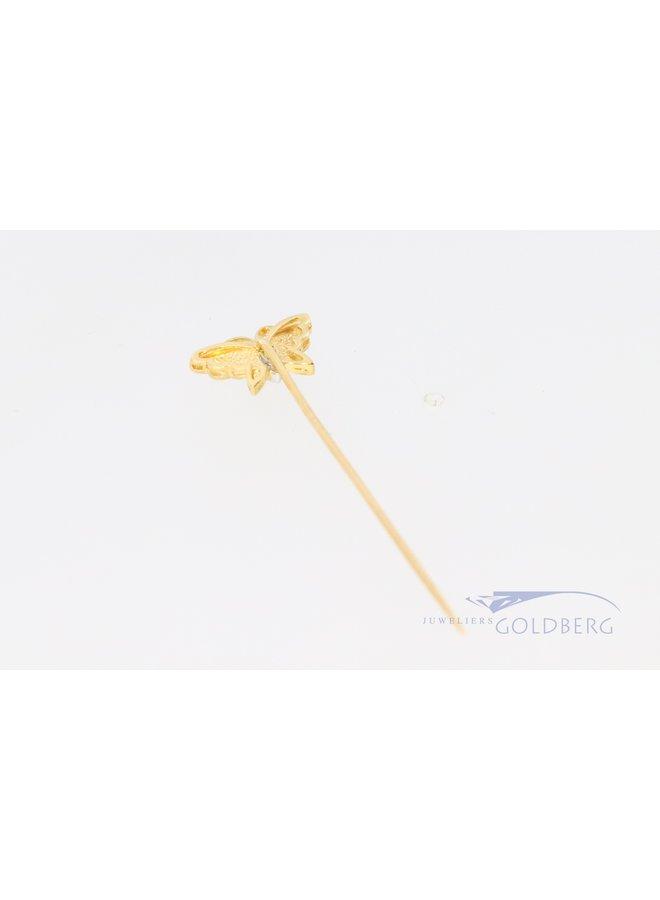 14k gouden vlinder pin