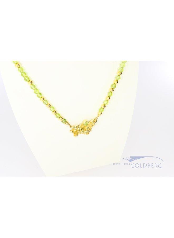 14k fantasy necklace with peridot