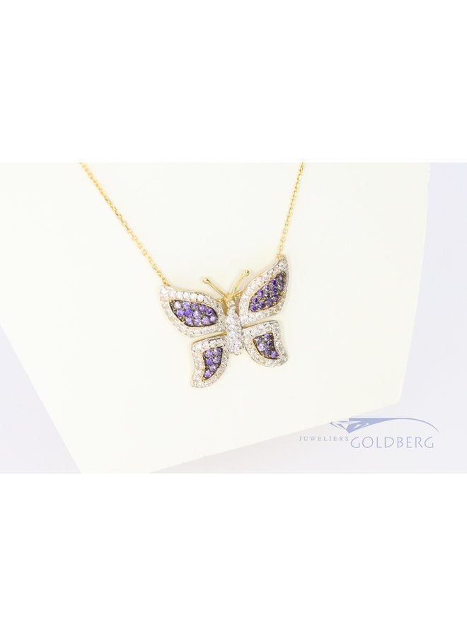 14k children's necklace with large butterfly