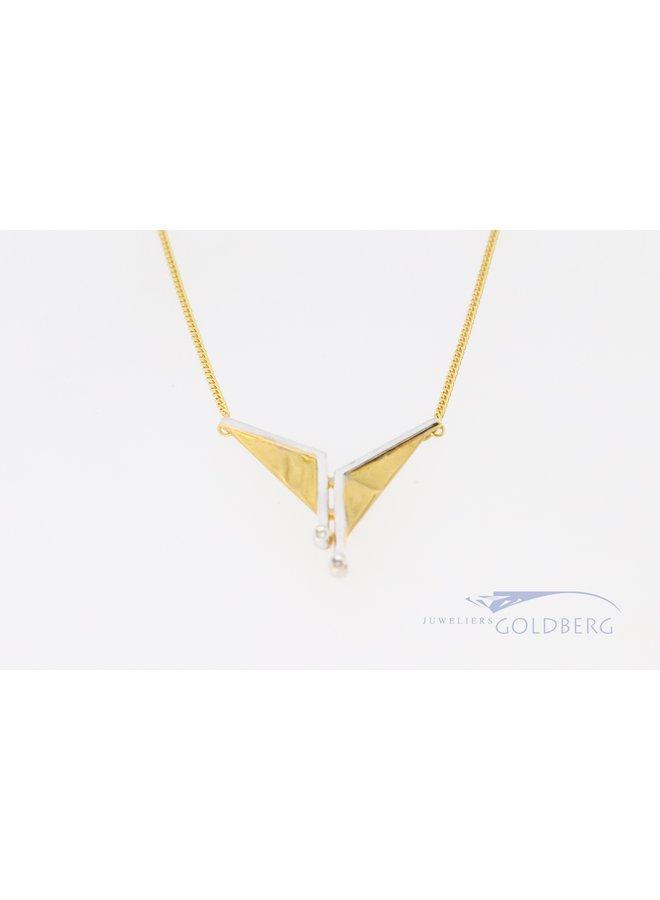 148k bi-color Fantasy necklace with diamond