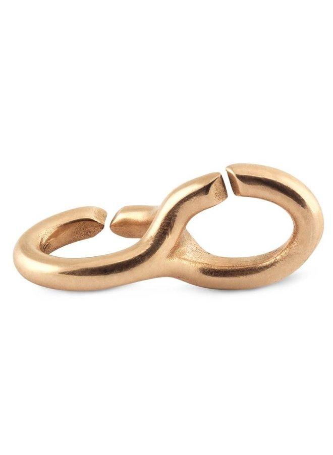Trollbeads X-jewelery bronze double link