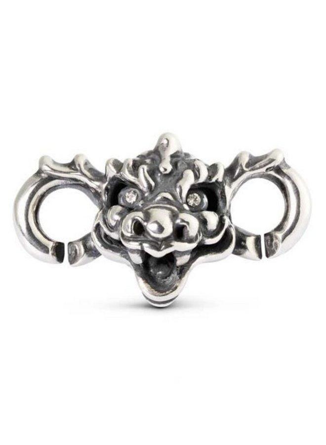 Trollbeads X-jewellery schakel draak