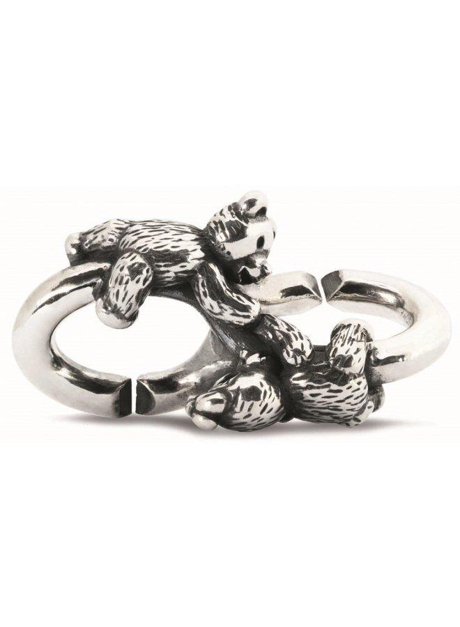Trollbeads X-jewellery schakel snoezige beertjes
