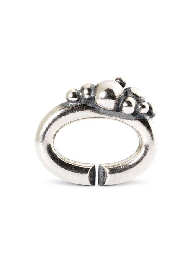 Trollbeads X-jewellery schakel bubbels