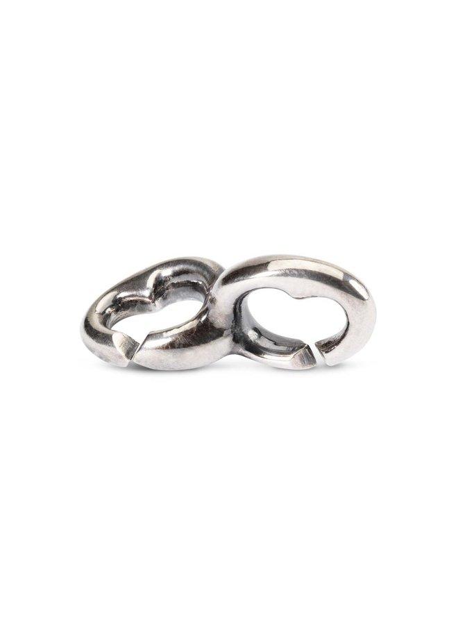 Trollbeads X-jewellery schakel dubbele binnenharten
