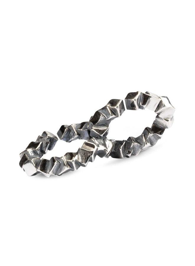 Trollbeads X-jewellery dubbele schakel orde in de chaos