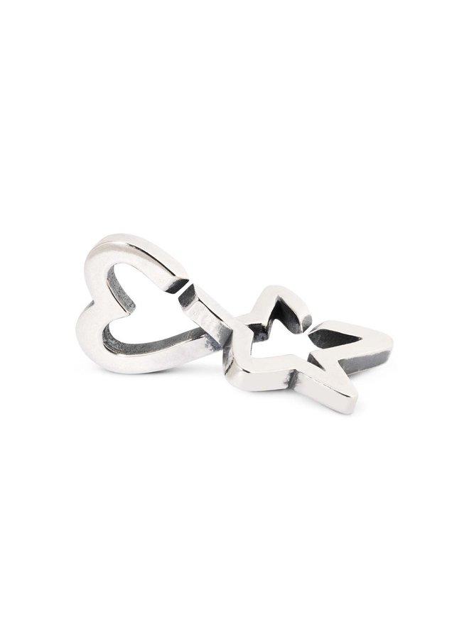 Trollbeads X-jewellery dubbele schakel ster&hart
