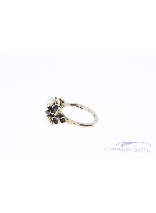 Rabinovich zilveren ring met parels