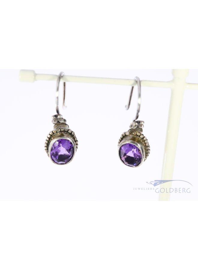 Rabinovich silver earrings with amethyst