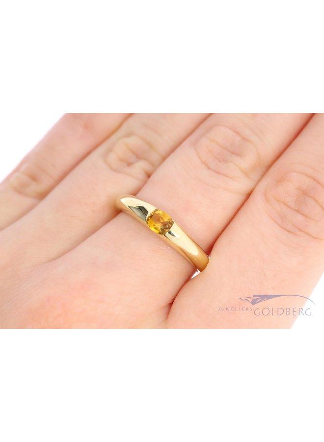 14k gold vintage ring with citrine