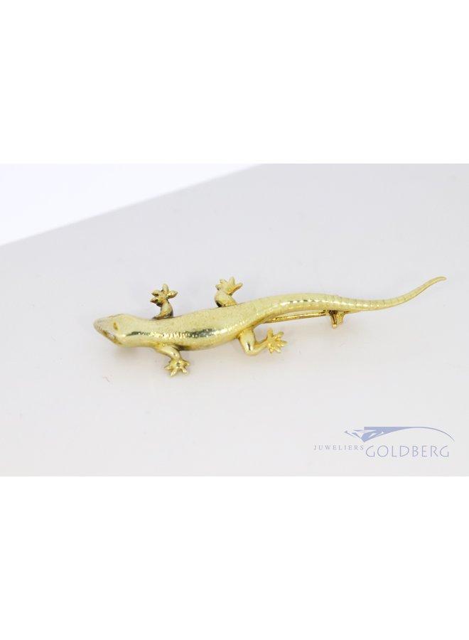 Vintage Salamander brooch 14 kt approx. 1906-1953