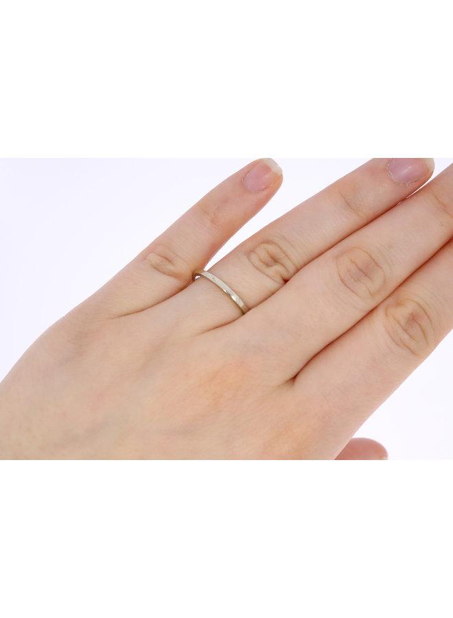14k white gold stacking ring