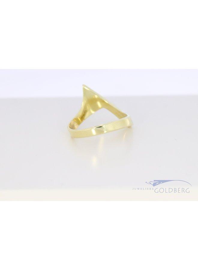 14k yellow gold vintage fantasy ring