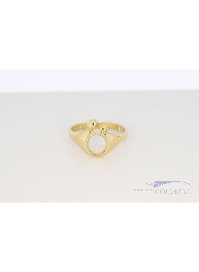 14k yellow gold M'amoer ring
