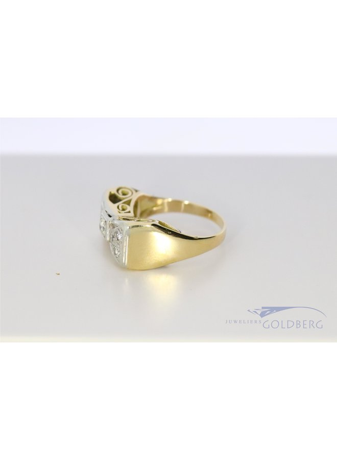14k gouden  'Strik' ring