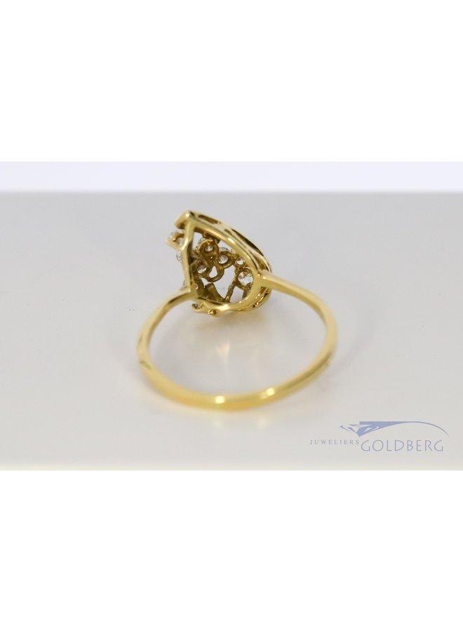 18k goud fantasiering  met diamant