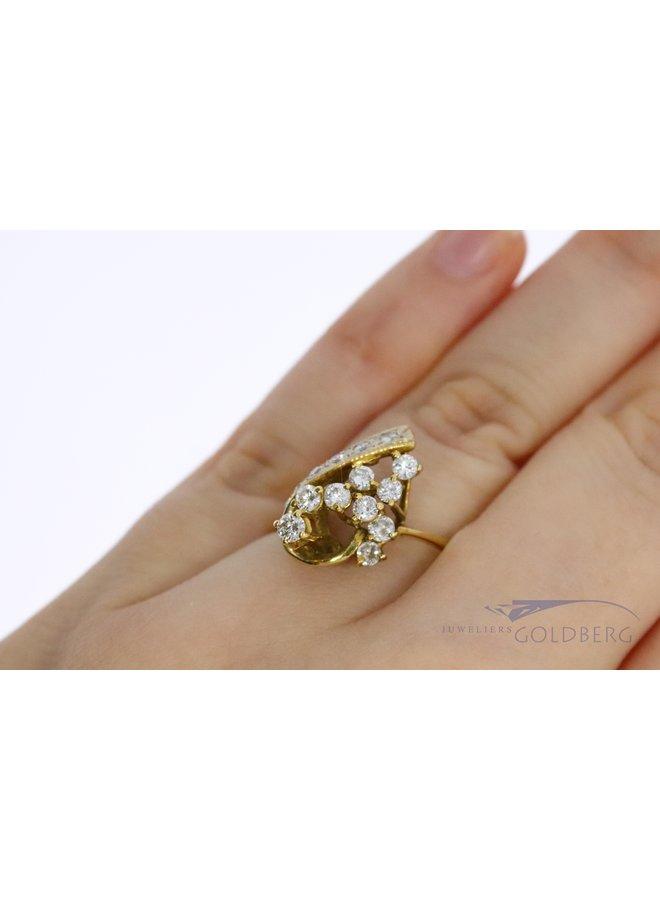 18k gold fantasy ring with diamond