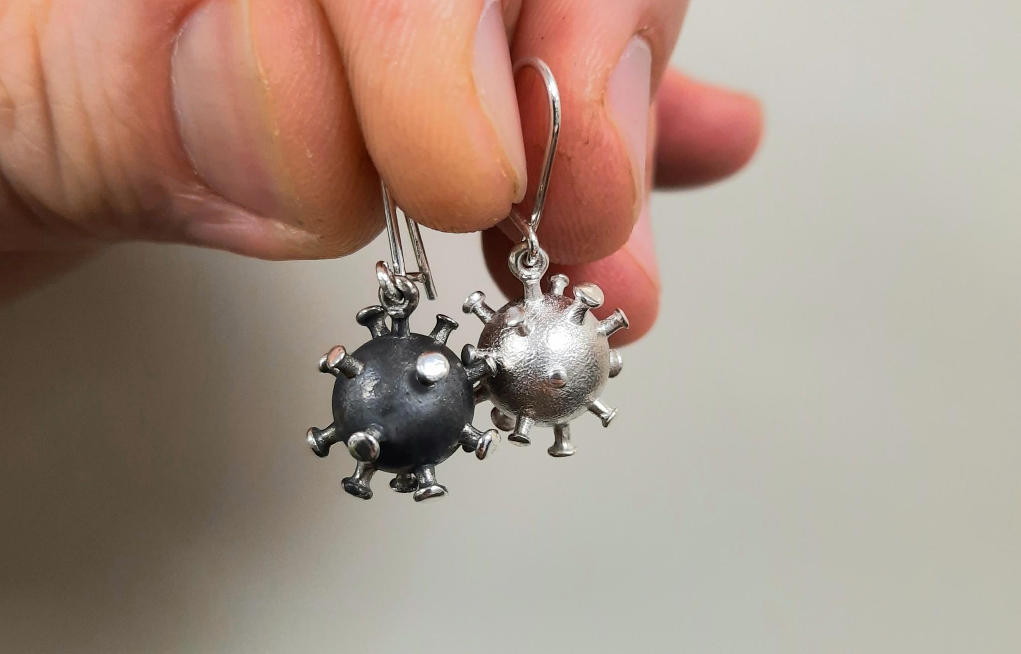Zilveren Corona Oorbellen Goldberg Juweliers