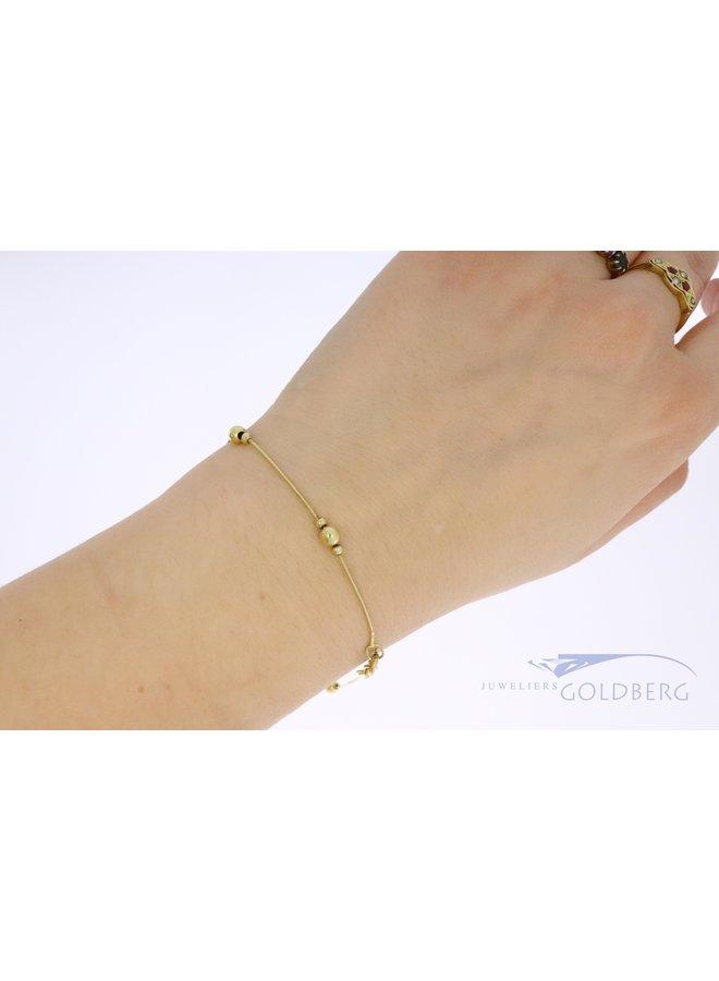 14k vintage armband met gouden kralen