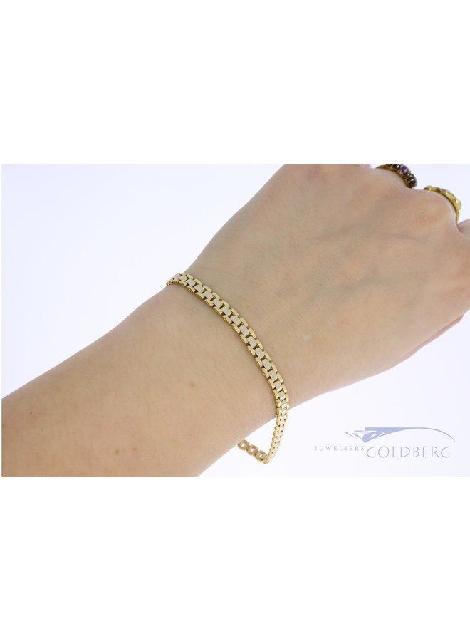 """14k gold """"rolex link"""" bracelet"""
