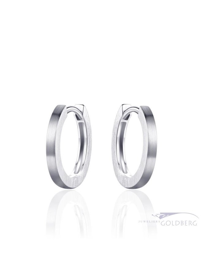 silver smooth thin creoles about 18mm