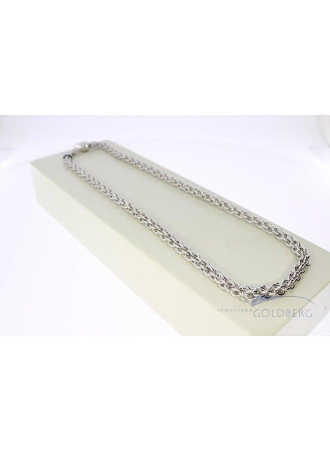 zilveren fantasie collier 5mm