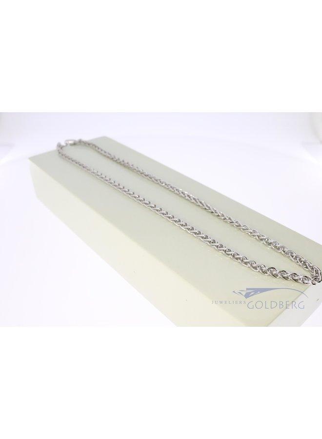 zilveren vossenstaart collier