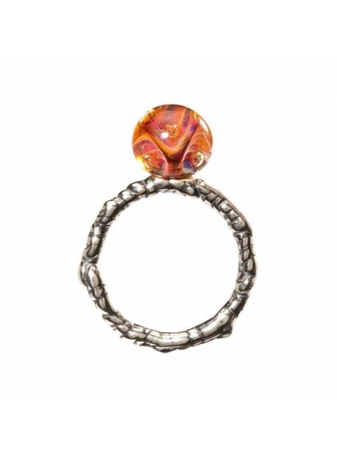 """Trollbeads zilveren ring """"Het oog van Aphrodite"""""""