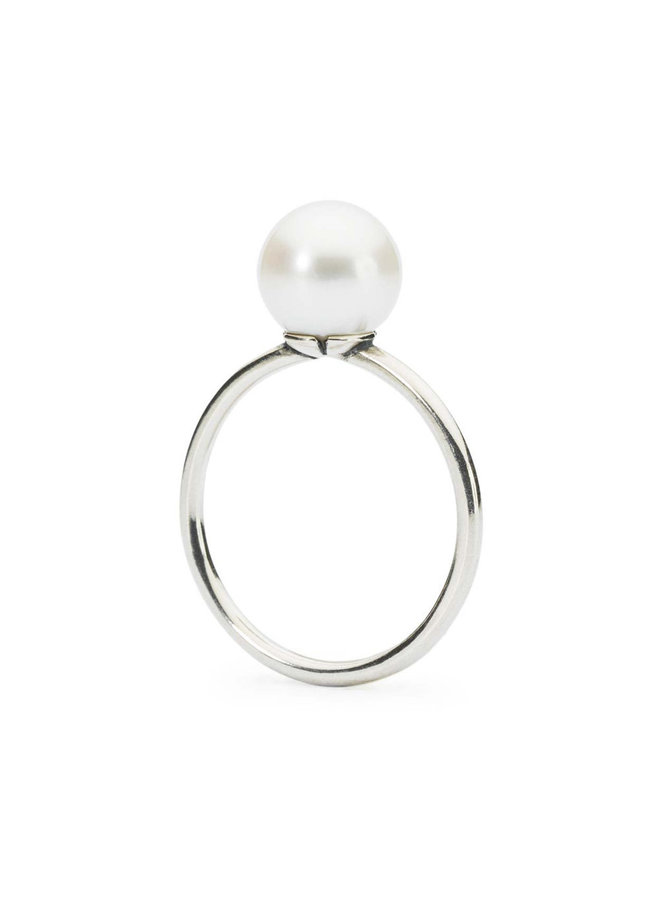 """Trollbeads silver ring """"white pearl"""""""