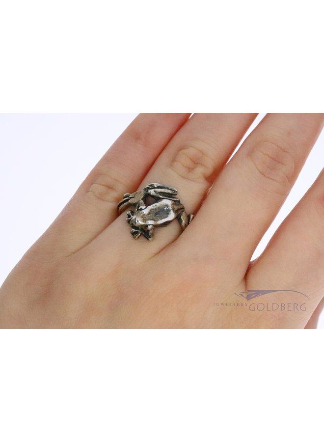 "Trollbeads silver ring ""Tree Frog"""