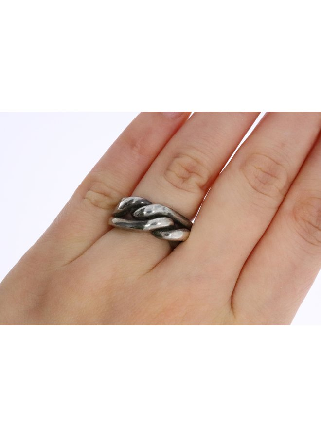 """Trollbeads silver ring """"Strength, courage and wisdom"""""""