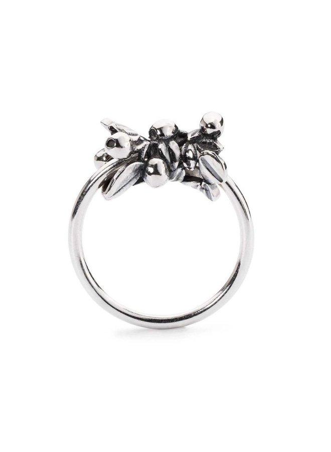 "Trollbeads silver ring ""blueberries"""
