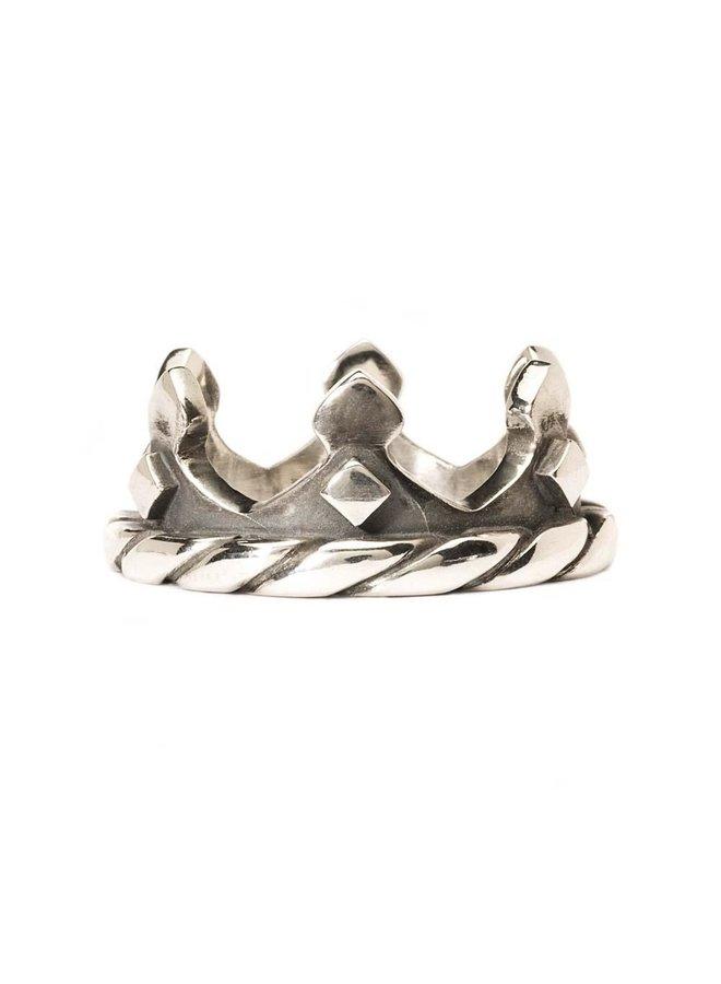 """Trollbeads zilveren ring """"Kroon"""""""