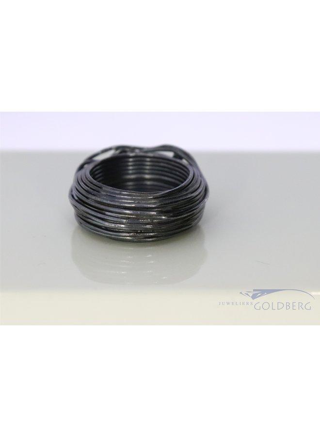 Rabinovich geoxideerde zilveren ring met zirkonia's