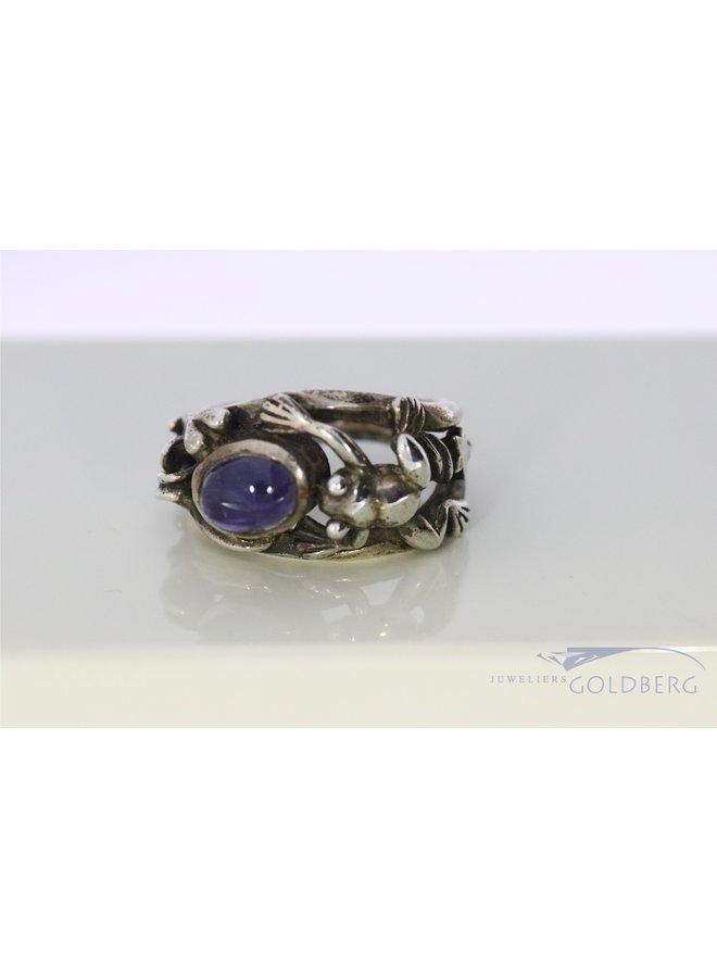 Rabinovich silver ring with Iolite.