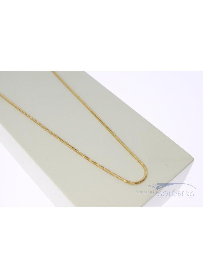 14k gouden slangencollier 42cm