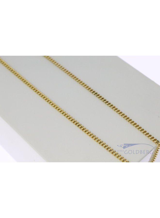 14k gold gourmet necklace 55 cm