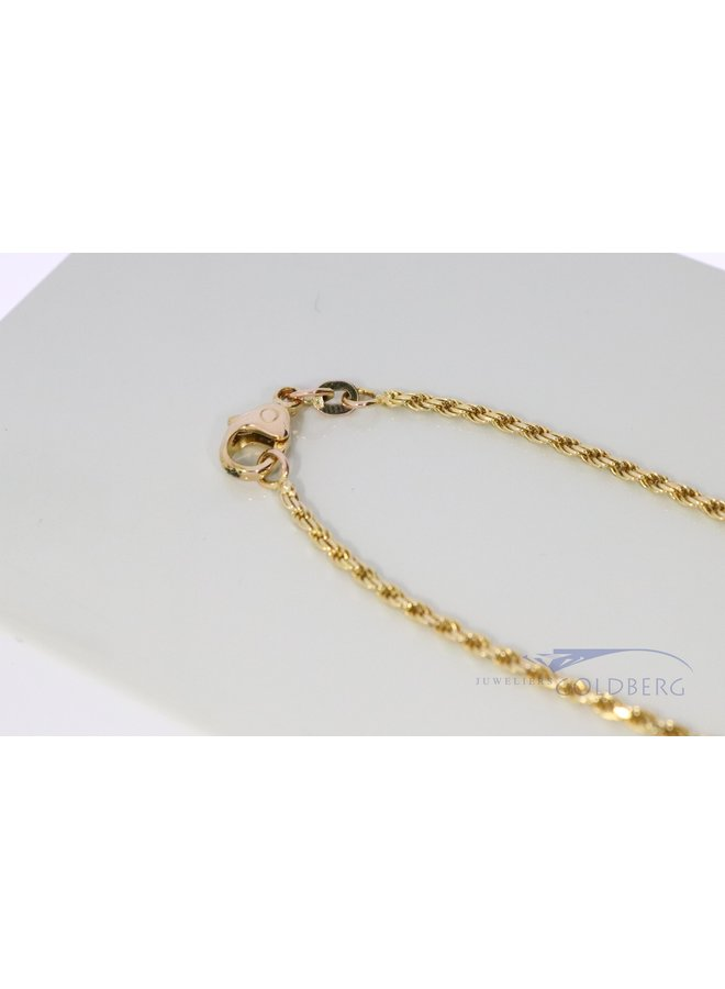 14k gold rope chain 42 cm