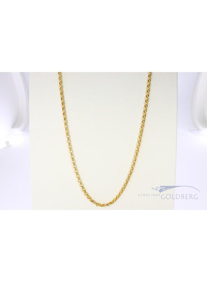 14k gold jasseron necklace 70 cm