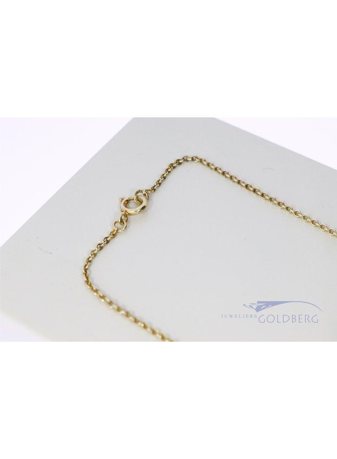14k gouden jasseron collier 42cm