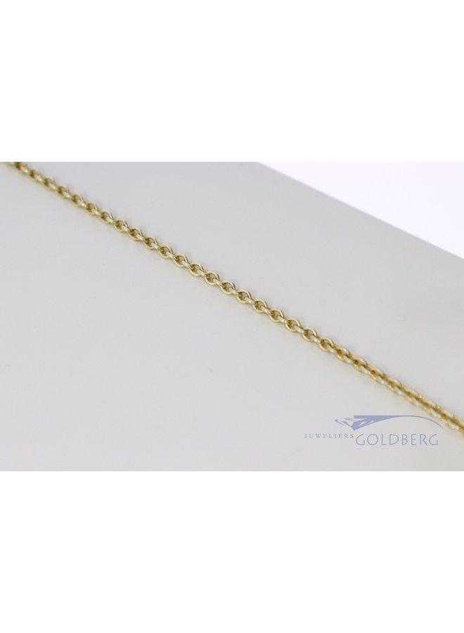14k gold jasseron necklace 42 cm